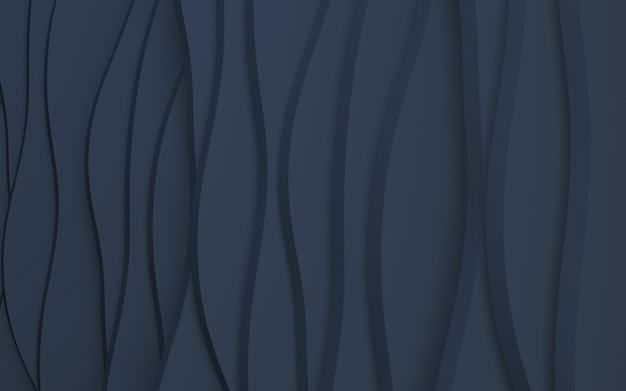 Rendering 3d sfondo blu navy ondulato