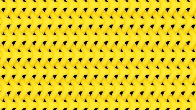 3d rendono la carta da parati gialla ripetuta del fondo del modello