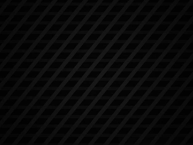 3d ha reso lo sfondo geometrico nero astratto.