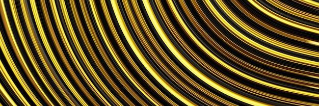 3d rendering astratto sfondo oro