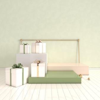 Piattaforme 3d renderizzate per la presentazione del prodotto mock up background