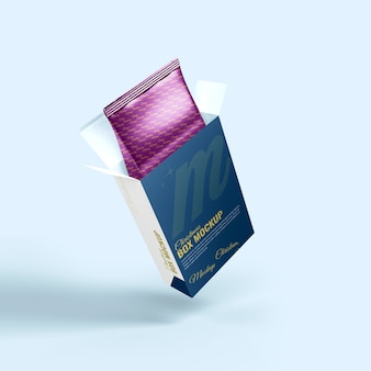Imballaggio di plastica realistico reso in 3d con mockup di scatola per natale