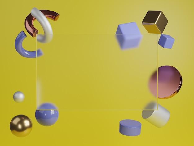 3d rendering studio mock up sfondo per la presentazione del prodotto
