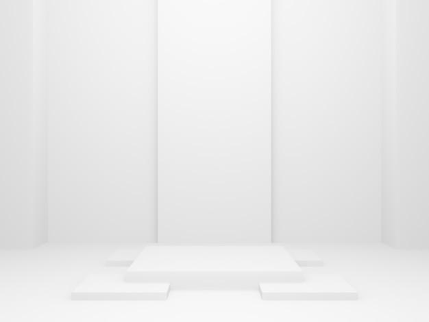 Fase geometrica bianca renderizzata in 3d