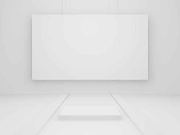 Fase geometrica bianca resa 3d