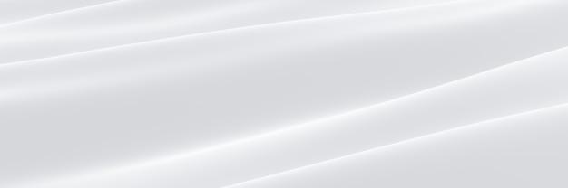 3d ha reso il panno increspato bianco. priorità bassa astratta dell'onda.