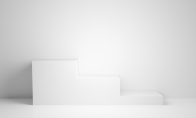 Supporto bianco rendering 3d