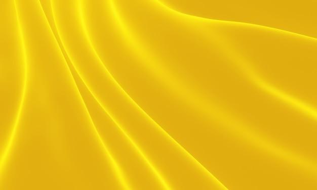 3d ha reso il panno increspato giallo. priorità bassa astratta dell'onda.