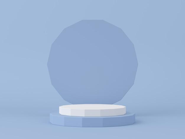 Rendering 3d di composizione astratta per la presentazione del prodotto