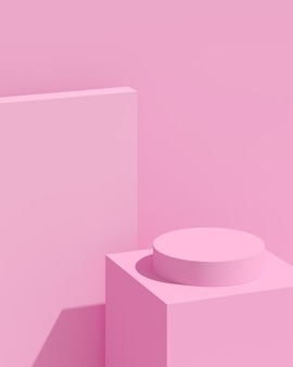 Rendering 3d della composizione astratta per la presentazione del prodotto