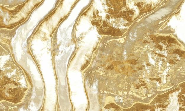 Rendering 3d sfondo oro astratto