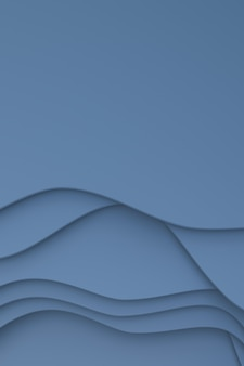 Rendering 3d, carta grigia astratta tagliata sfondo banner arte