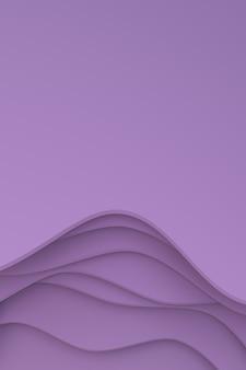 Rendering 3d, disegno di sfondo arte taglio carta astratta per modello di poster, sfondo astratto modello