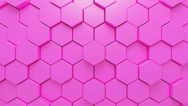 Rendering 3d di sfondo geometrico rosa astratto