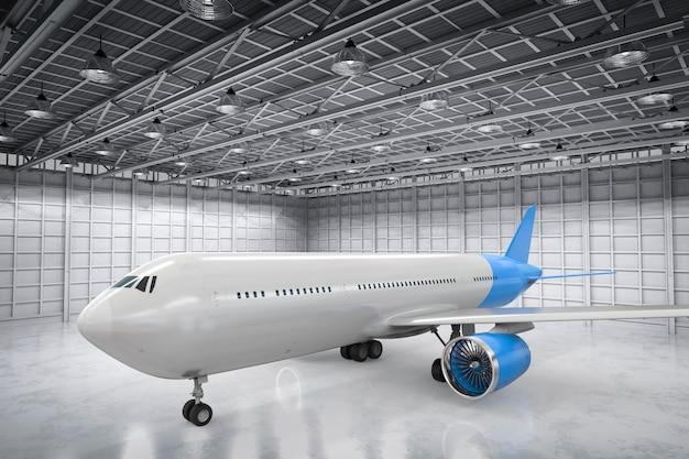 Rendering 3d aereo in hangar