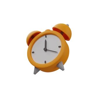 3d rendering sveglia illustrazione su sfondo bianco. icona della sveglia 3d isolata. illustrazione isolata della sveglia 3d