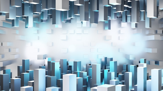 Sfondo di rendering 3d. tecnologia concettuale nel futuro si-fi.