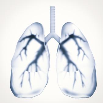 3d rendering polmoni neri o polmoni malsani