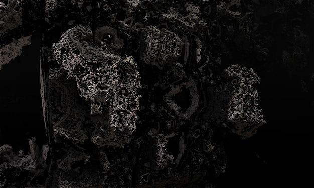Rendering 3d dello sfondo di pietra nera della parete. trama di granito.