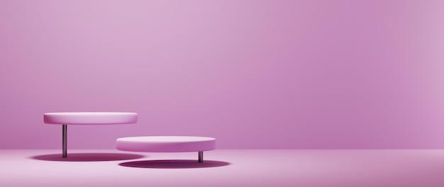 Rendering 3d di uno sfondo vuoto per la visualizzazione di decorazioni per cosmetici in crema e moda. sfondo moderno prodium per prodotto di lusso.
