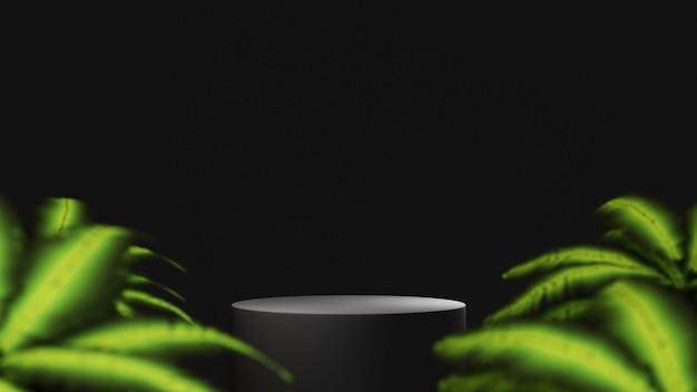 Rendering 3d dello sfondo del prodotto vuoto per la visualizzazione di decorazioni per cosmetici in crema e moda. fondo moderno del podio per il prodotto di lusso.