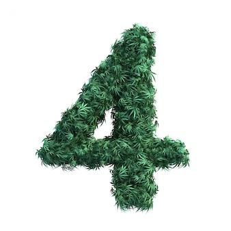Rendering 3d della cannabis numero 4