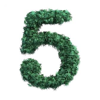 Rendering 3d della cannabis numero 5
