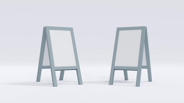 Concetto di rendering 3d di tavola in piedi su sfondo bianco