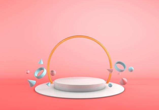 Rendering 3d sfondo cosmetico per la presentazione della confezione del prodotto