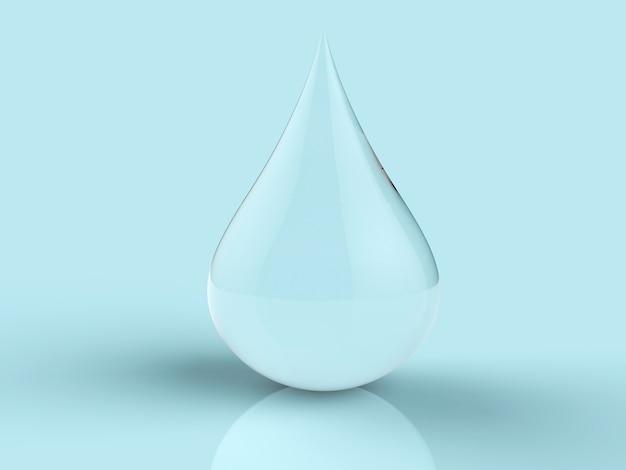 Goccia d'acqua di rendering 3d