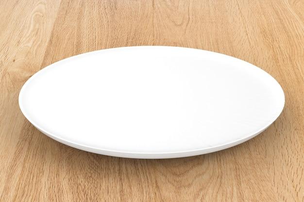 3d rendering piatto vuoto