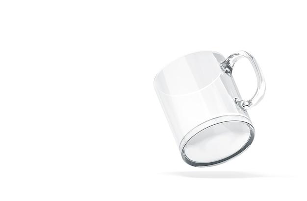 Rendering 3d bicchiere vuoto posizionato su bianco