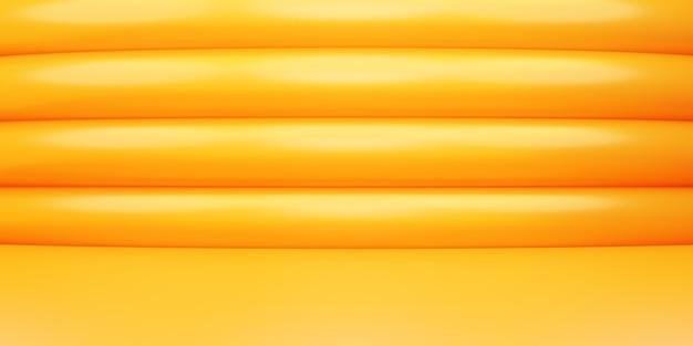 Rappresentazione 3d della pubblicità minima del fondo di concetto geometrico astratto dell'oro arancione vuoto