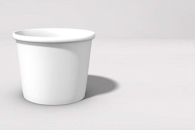 3d rendering ciotola di cibo