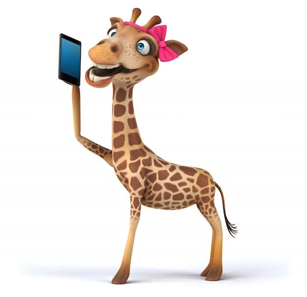 Rappresentazione 3d della giraffa divertente