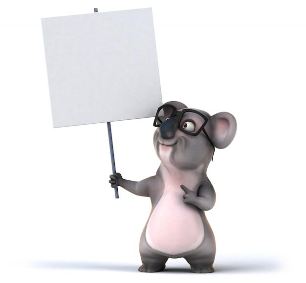Rappresentazione 3d del koala divertente