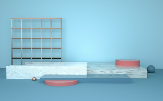 Rendering 3d di sfondo forma geometrica per la visualizzazione del prodotto
