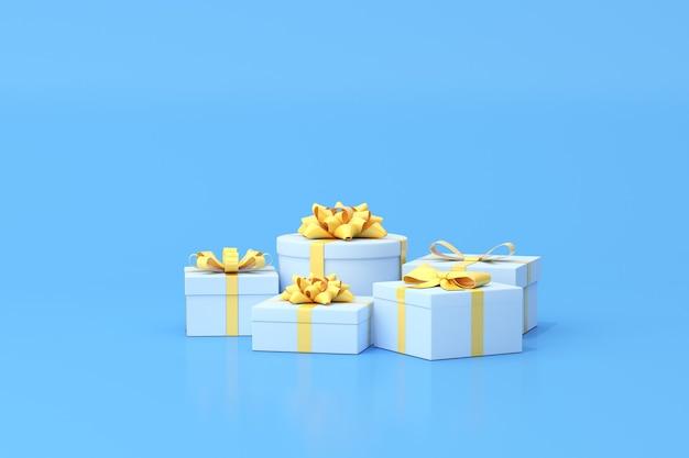 Rendering 3d della confezione regalo