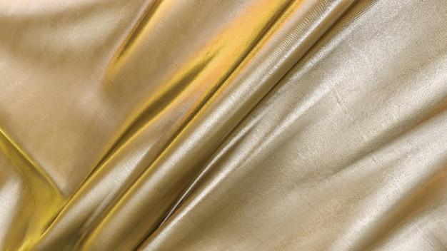 Rendering 3d di trama del tessuto oro