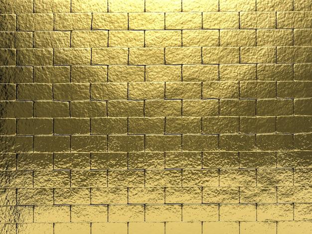 3d che rende il fondo dorato della parete