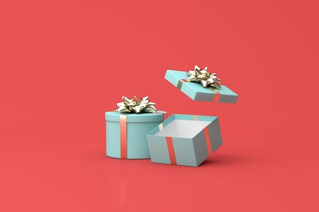 Rendering 3d di una confezione regalo verde