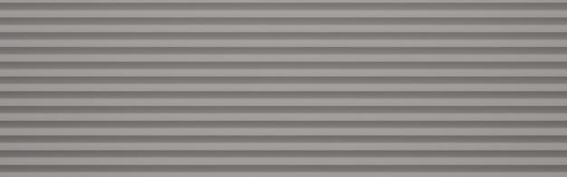Rendering 3d immagine modello grigio per lo sfondo, carta da parati a strisce orizzontali.