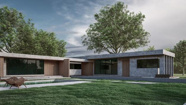 Rendering 3d dell'illustrazione della casa