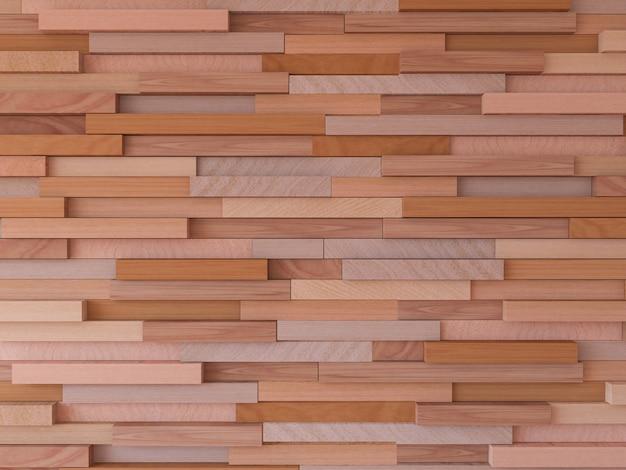 Immagine della rappresentazione 3d della parete di legno