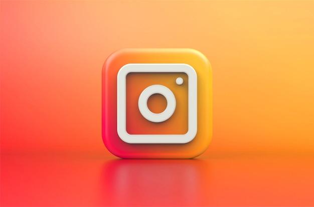 Rendering 3d del logo instagram