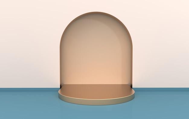 Piattaforme interne di rendering 3d per la presentazione del prodotto mock up dello sfondo