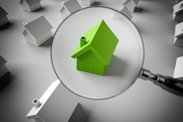 Rendering 3d cerca una casa in vendita