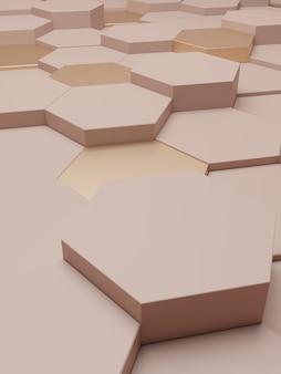Rendering 3d sfondo di visualizzazione di prodotti di lusso per prodotti di bellezza per la cura della pelle o prodotti a base di miele