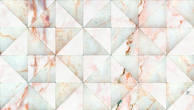 Rendering 3d di pannelli di forma triangolare in marmo.