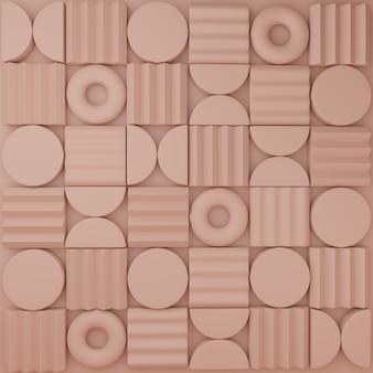 Rendering 3d minimo puzzle astratto o blocchi di puzzle visualizzazione prodotto sfondo o motivo